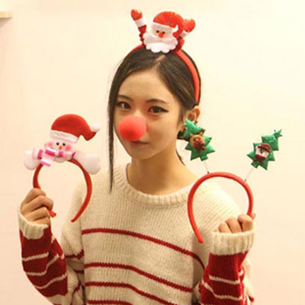 크리스마스 헤어밴드/산타/머리띠/파티용품 크리스마스 헤어밴드 머리띠 파티용품 산타