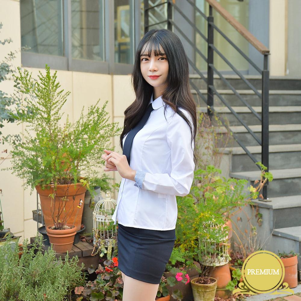(빅사이즈)프리미엄 여성셔츠 4XL(둥근카라 밝은블루) 교복셔츠 교복 교복쇼핑몰 교복와이셔츠 남자교복 학생복 교복남방 교복블라우스 여자교복 고등학교교복