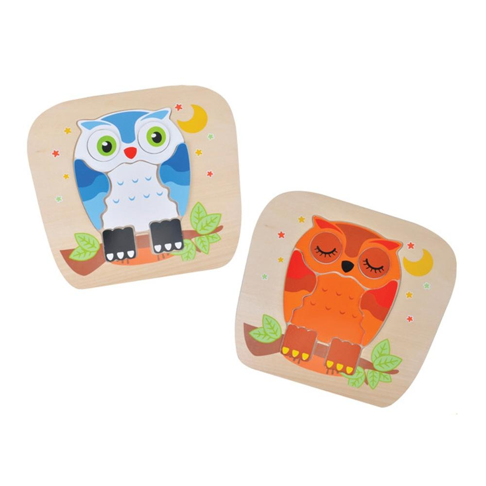 도구 2살 아이 장난감 부엉이 양면퍼즐 유아 놀이 퍼즐 블록 블럭 장난감 유아블럭