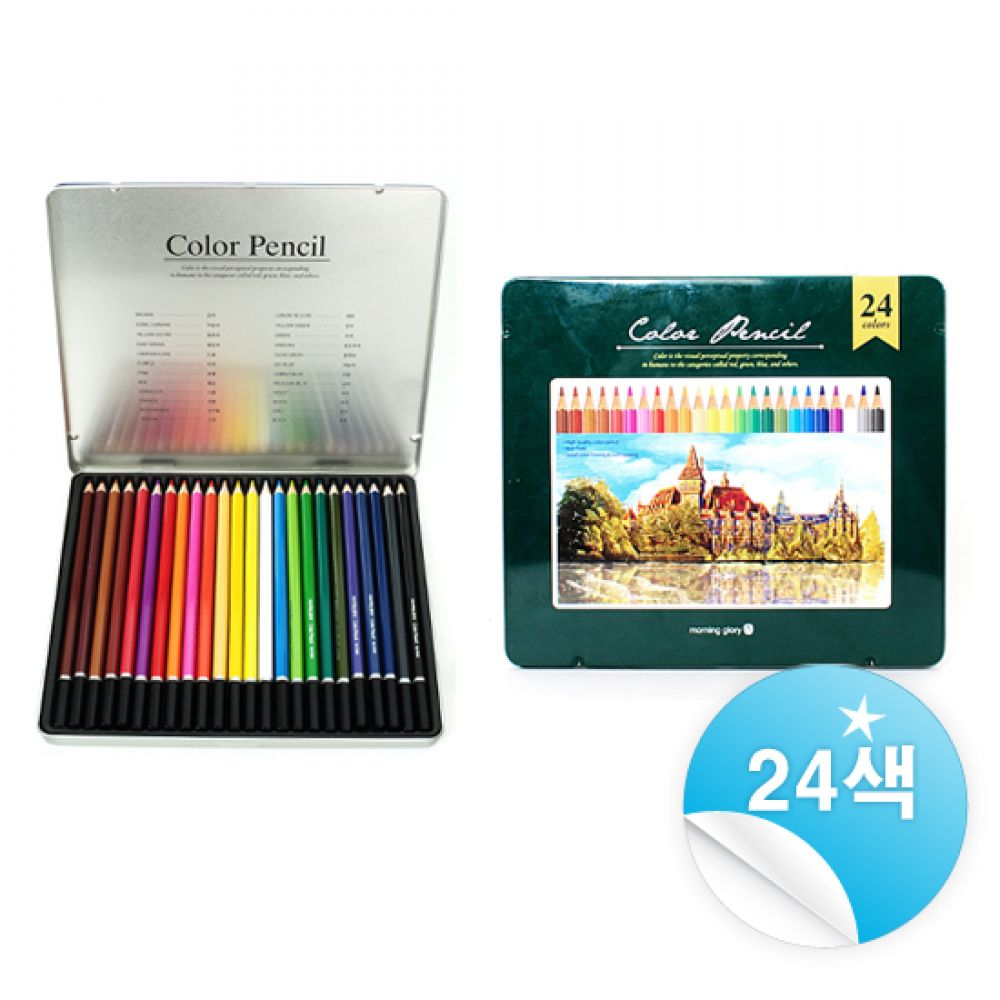 10000 유성색연필 24색세트 유성색연필24색 포리색연필24색 디자인색연필24색 학용색연필24색 학생색연필24색