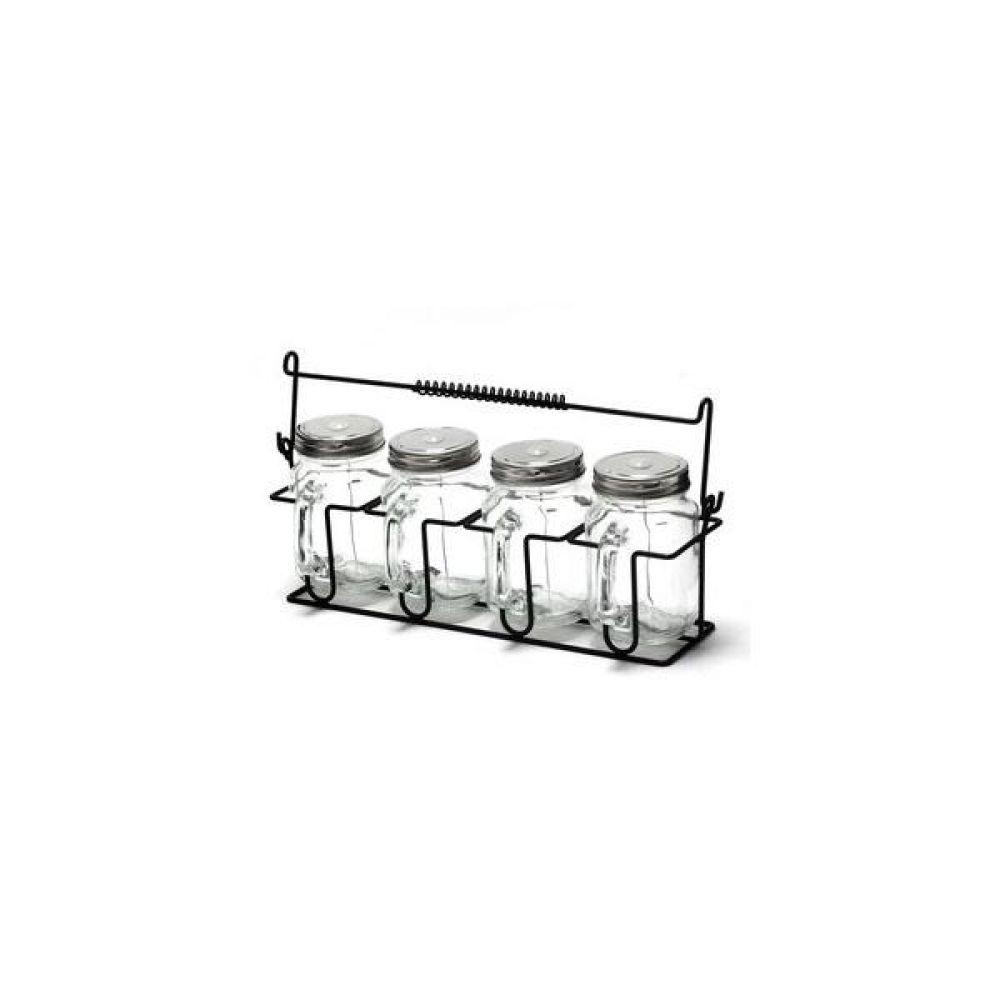 앤 와이어 유리병 텀블러(G32) 5P 세트 주방 생활 도매 유리자 밀폐