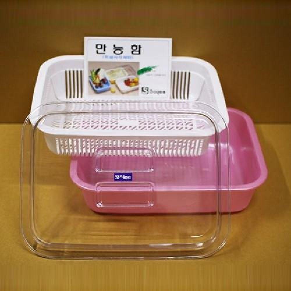 다용도 위생 사각채반 중형 과일채반 주방용품 주방용기 채반 사각채반 과일채반 채소채반