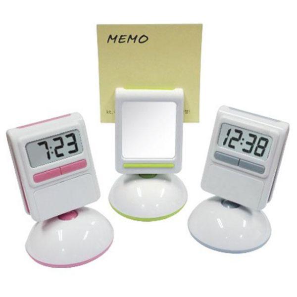 디지털 클립 거울시계 탁상시계 시계거울 메모홀더 거울시계 클립시계 메모클립시계 홀더시계 시계거울