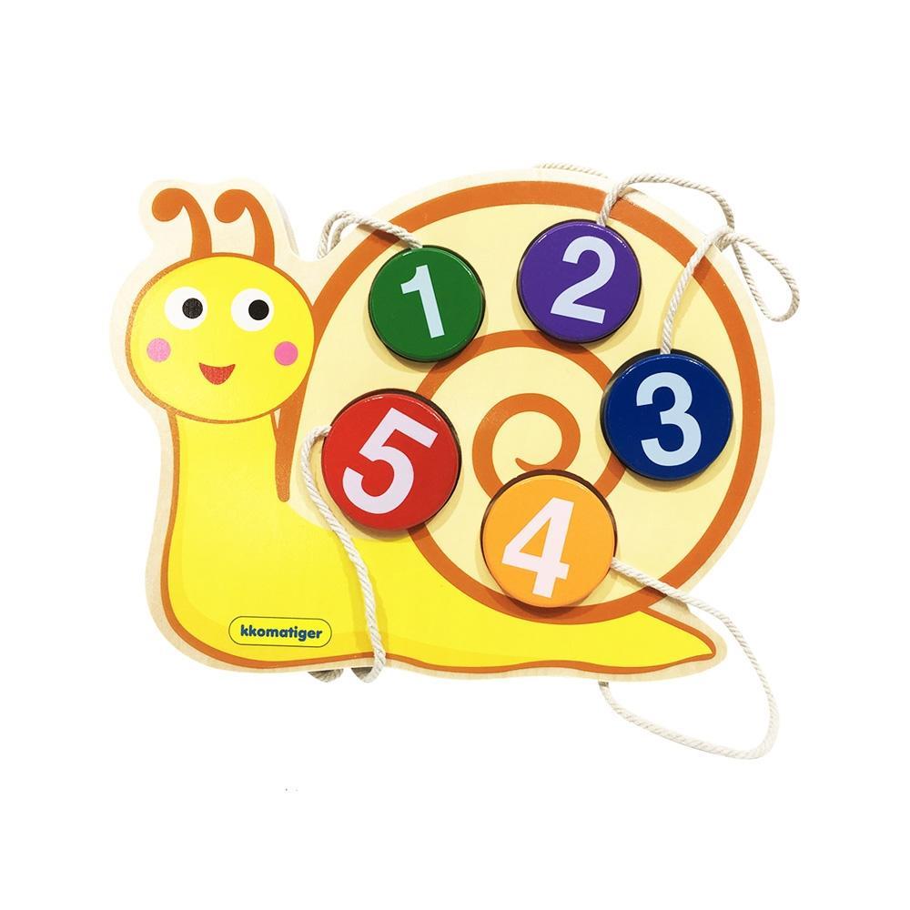 선물 유아 장난감 티거 원목 끈퍼즐 놀이 달팽이 숫자 퍼즐 블록 블럭 장난감 유아블럭