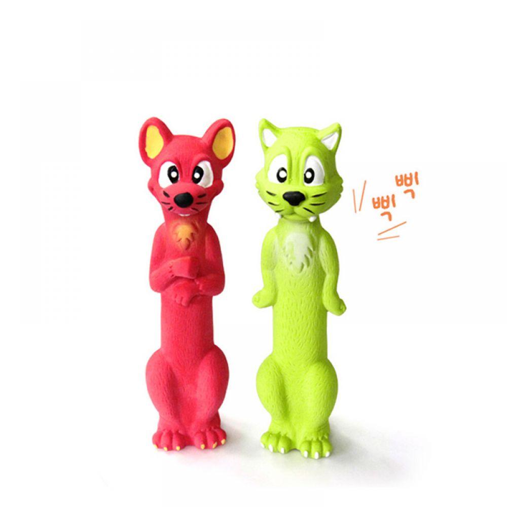 라텍스 고양이쥐 PMD-175 애견인형 봉제인형 공 원반 강아지장난감 고양이장난감 애견장난감 치킨토이 삑삑이장난감 터그놀이 노즈워크 간식 장난감