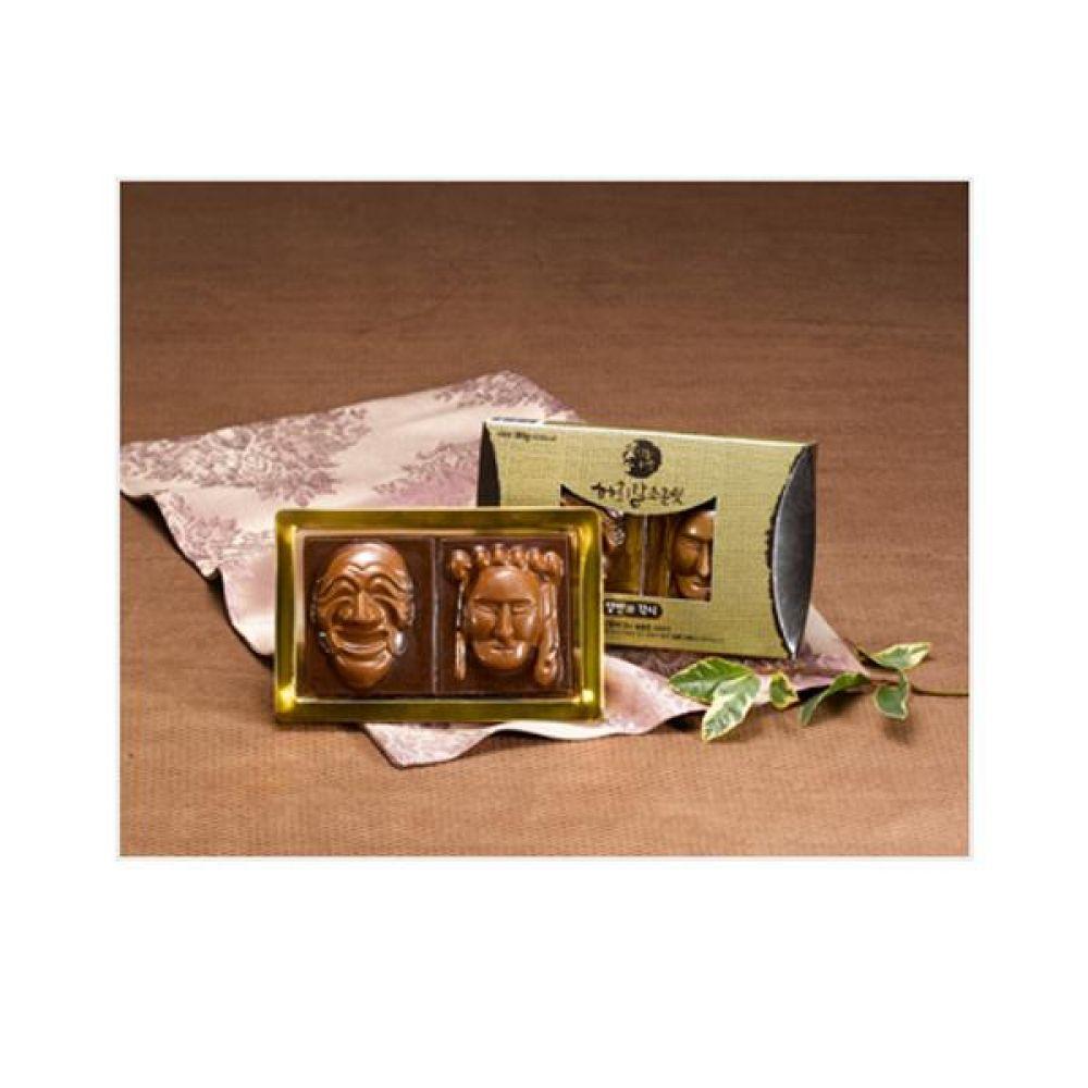하회탈 수제초콜렛 양반과 각시 상황버섯 추출물과 초콜렛의 환상적인 조합 건강 식품 버섯 선물 초콜릿