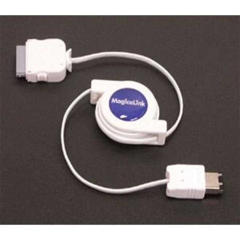 Coms A사 팟용 1394-Dock 자동감김 케이블 COMS 스마트폰 태블릿 케이블(충전 데이터) 자동감김 분리형 A사 팟용 1394-Dock 케이블