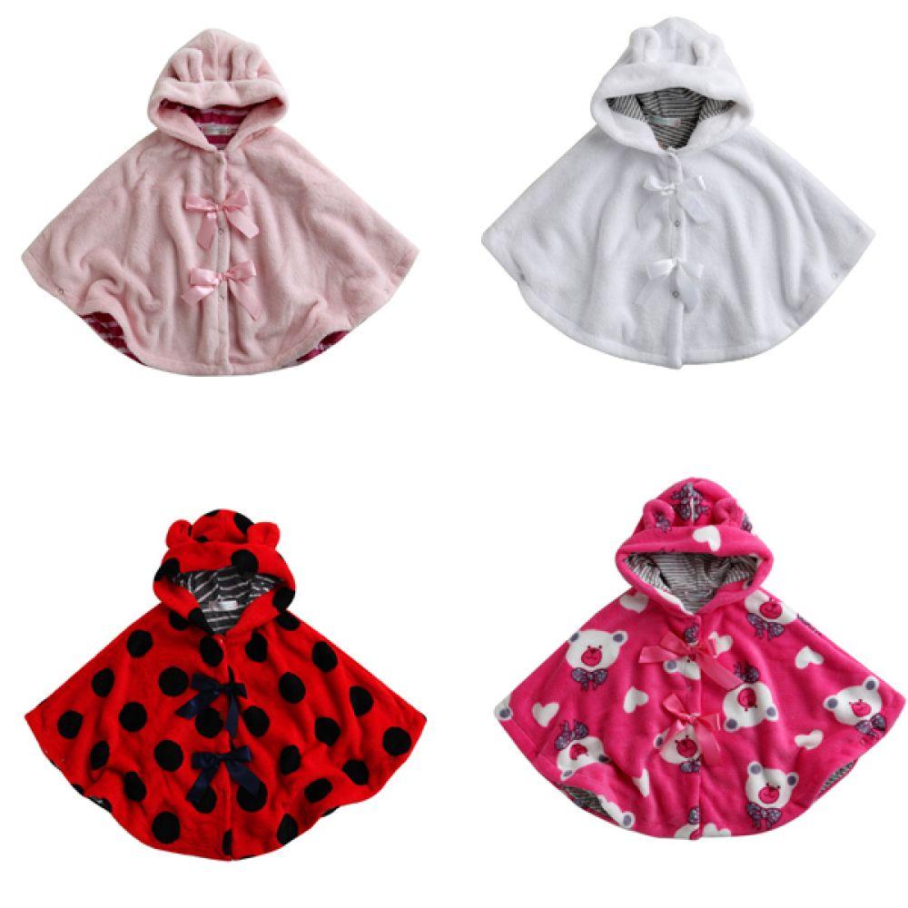 깜찍한 유아 망토 4종택1종(12-24개월) 202948 아기옷 유아옷 아기망토 유아망토 아기바람막이 망토 자켓 케이프 간절기옷 아우터