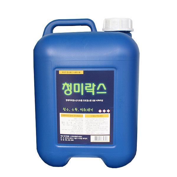 (무)청미 락스13kg(12.5L) 청미락스 락스 주방세제 청미 식자재