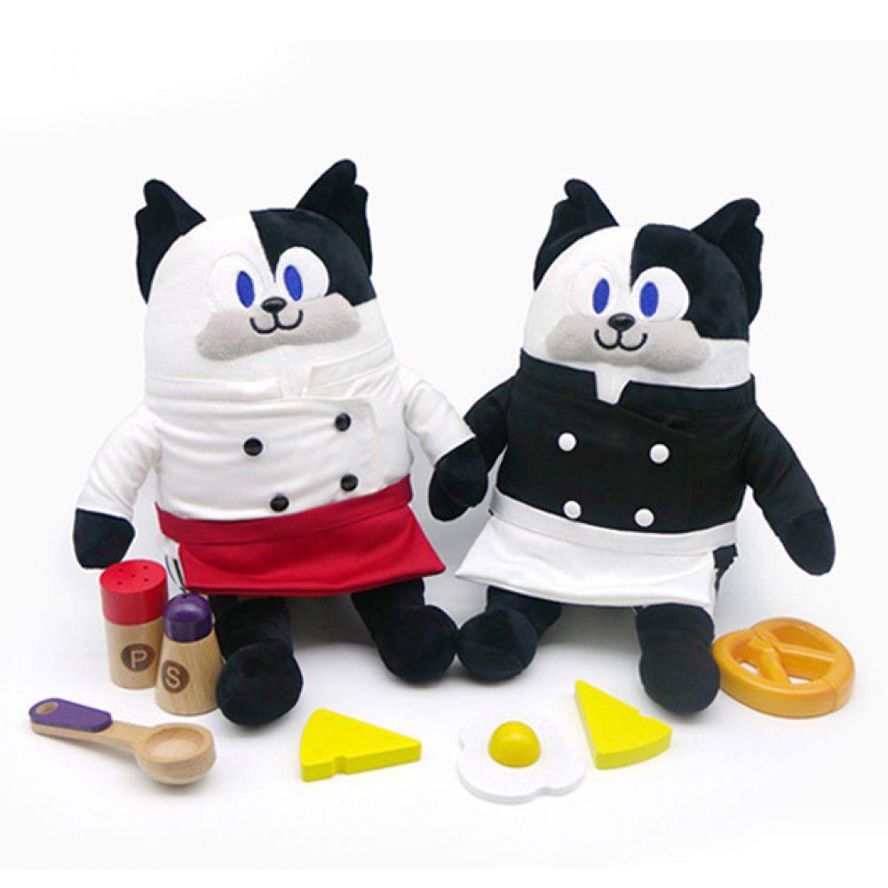 냉장고를부탁해 쿠마오 인형-25cm 인형선물 캐릭터 캐릭터인형 봉제인형 귀여운인형 동물인형 고양이인형 냉장고를부탁해 쿠마오 쉐프