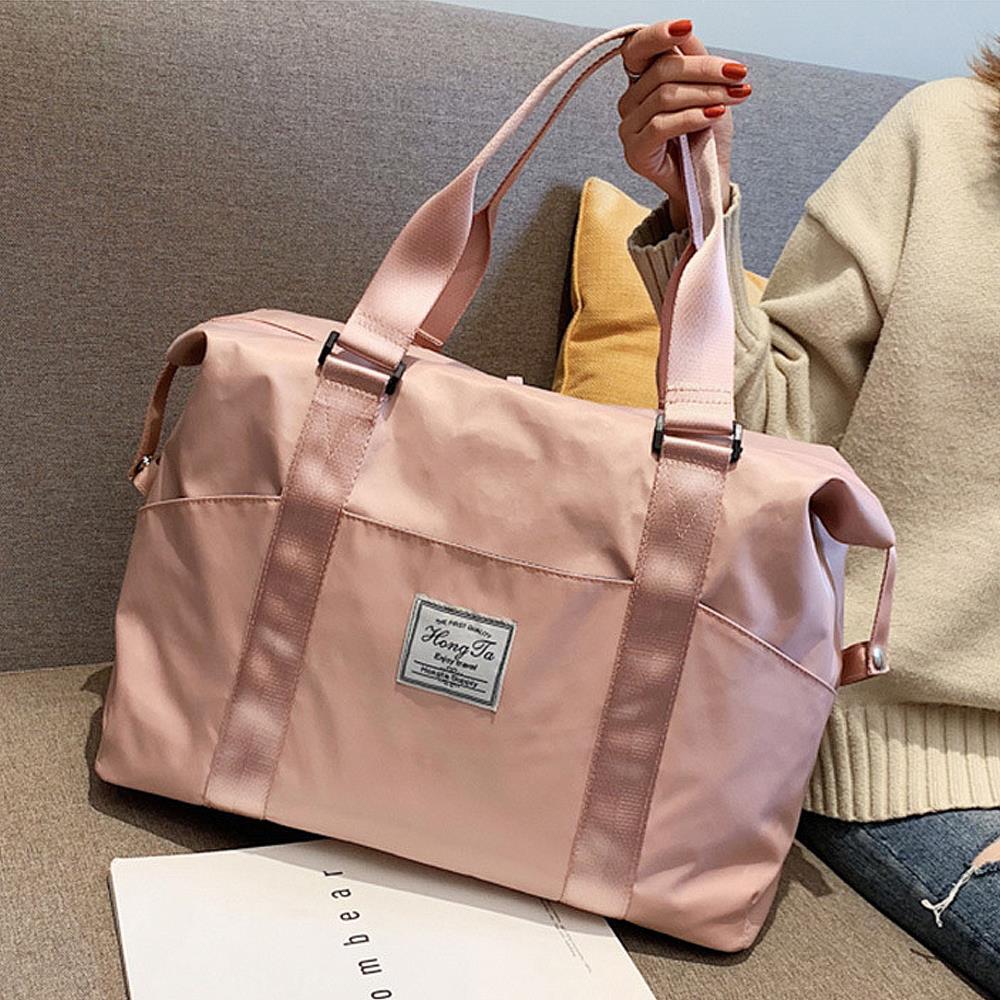 보스턴백-대 핑크 캐리어결합 여행용가방 보스턴가방 여행가방 결합백 짐가방 캐리어결합백 보조가방