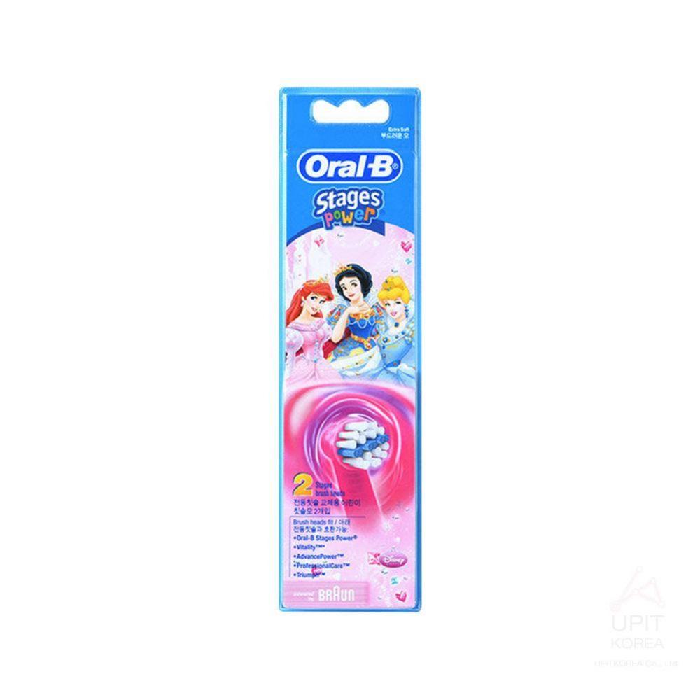 Oral-B Stage power 전동칫솔 교체용 어린이 칫솔모 2개입_3491 생활용품 가정잡화 집안용품 생활잡화 잡화