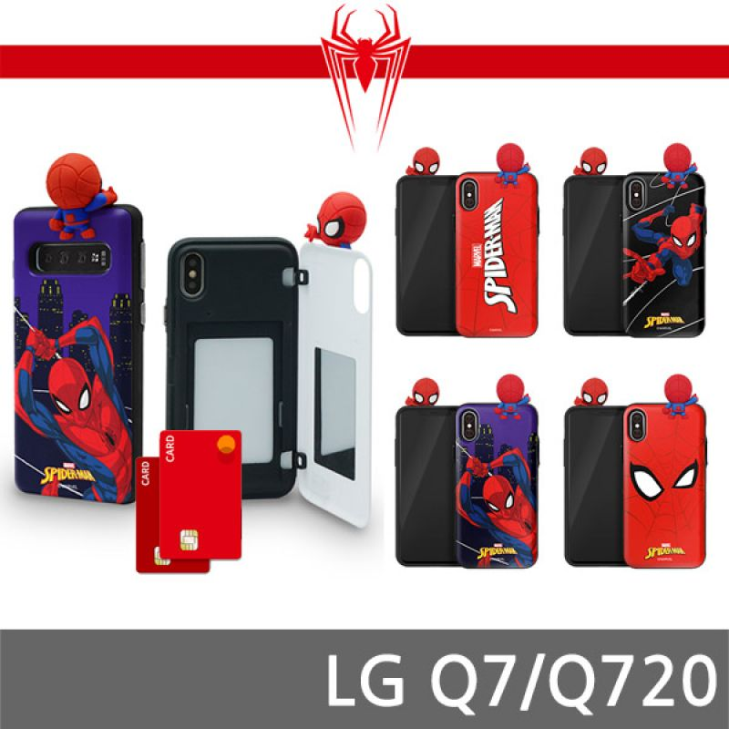 LG Q7 스파이더맨 피규어 도어케이스 Q720 핸드폰케이스 스마트폰케이스 휴대폰케이스 마블케이스 미러케이스