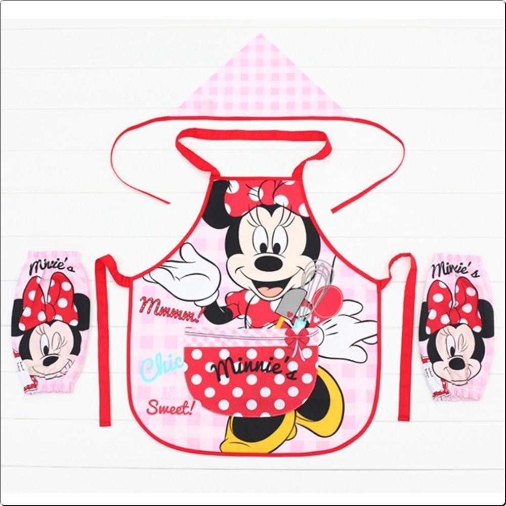 디즈니 미니 체크 앞치마 (DKAP-1601) 캐릭터 캐릭터상품 생활잡화 잡화 유아용품