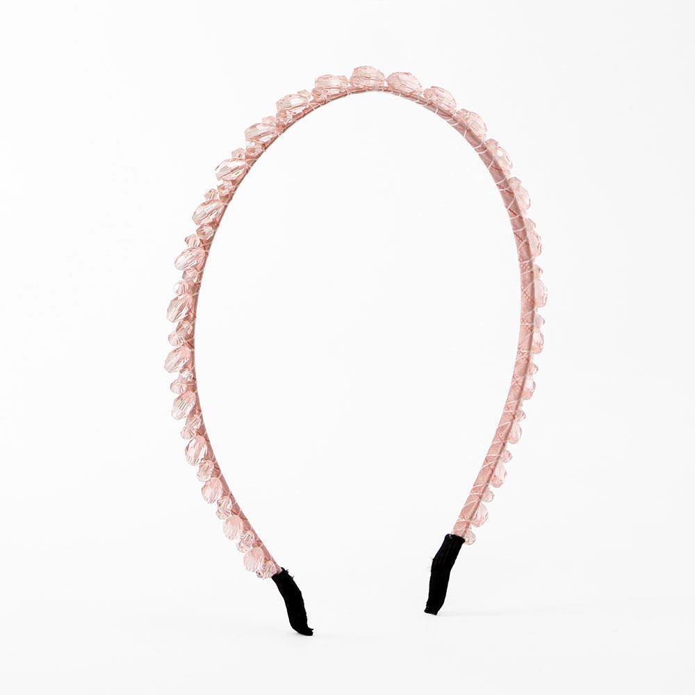 헤어밴드 얇은머리띠 핑크 머리띠 큐빅 보석 헤어장식 머리띠 헤어핀 얇은머리띠 큐빅머리띠 보석머리띠