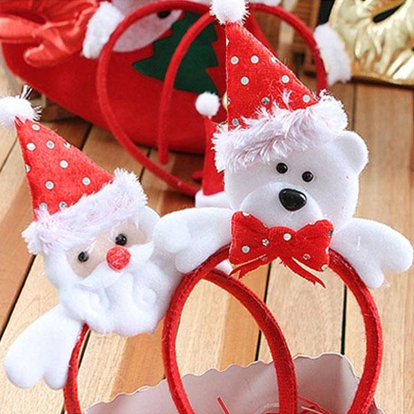크리스마스 헤어밴드 (고급)/산타/머리띠/파티용품 크리스마스 헤어밴드 머리띠 파티용품 산타