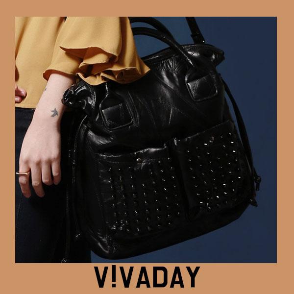 VAG369 블랙스터드포인트토트백 백팩 패션가방 숄더백 토트백 크로스백 데일리백팩 데일리크로스백 데일리숄더백 여성가방 여자가방 클러치