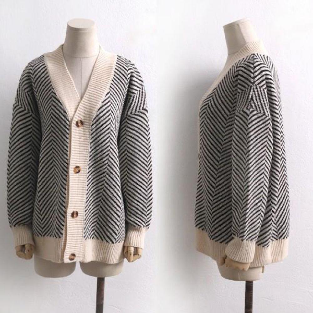 빅사이즈 001 지브라 패턴 가디건 DWC7355 빅사이즈 여성의류 미시옷 임부복 001지브라패턴가디건DWC7355