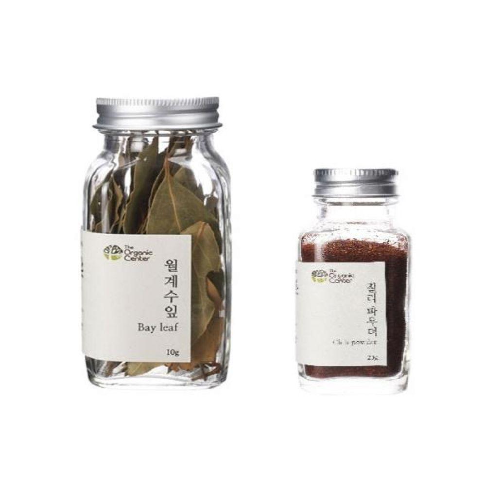 (오가닉 향신료 모음)월계수잎 10g과 칠리파우더 25g 건강 견과 조미료 냄새 고기