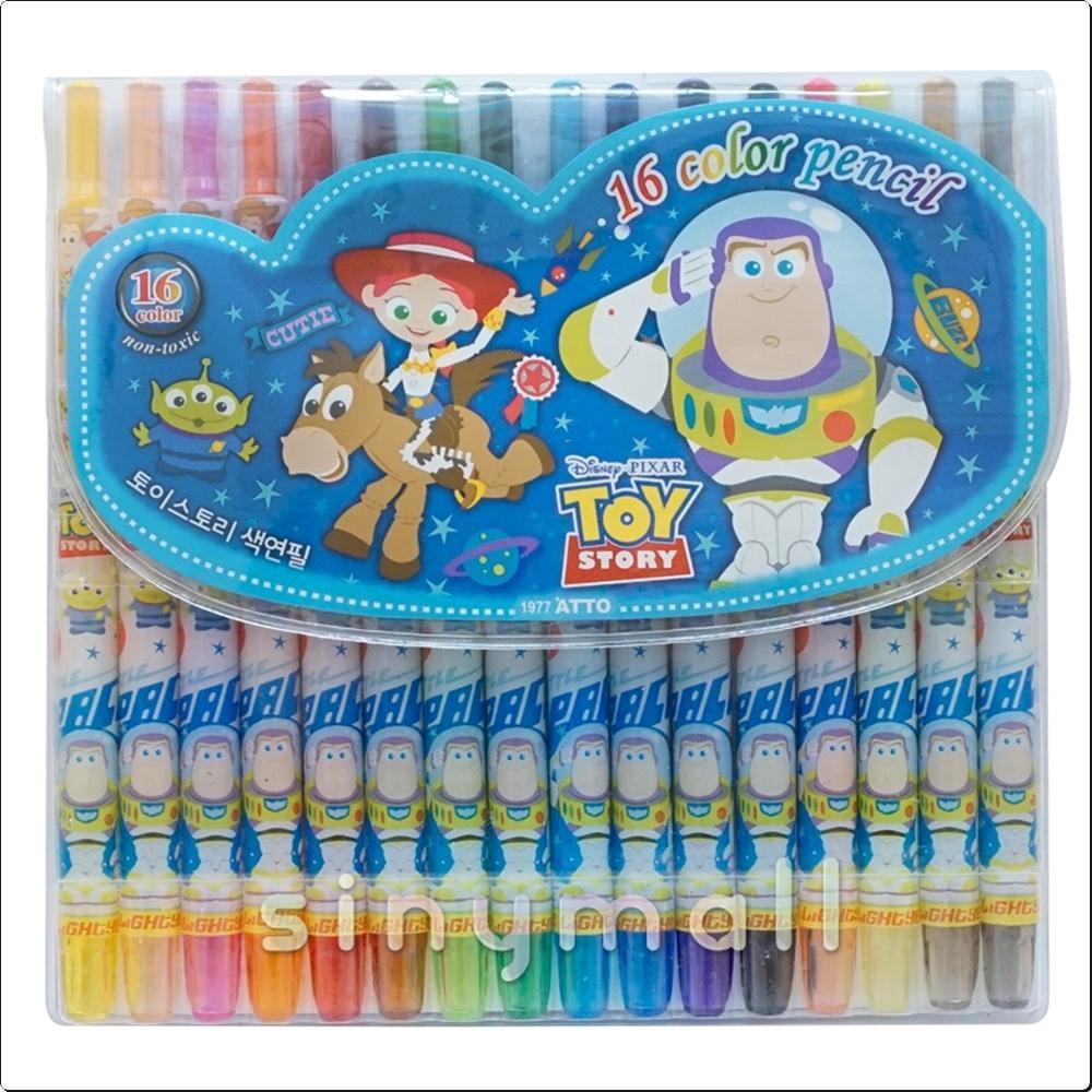 디즈니 토이스토리 색연필 16색 (809971) 캐릭터 캐릭터상품 생활잡화 잡화 유아용품