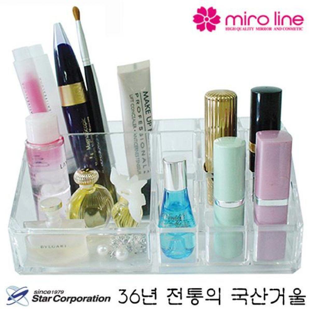 36년 전통의 스타 미니 화장품 정리함 173x71x72 계단식 립스틱등 작은 소품 정리 거울 미러 화장 꾸밈 여자