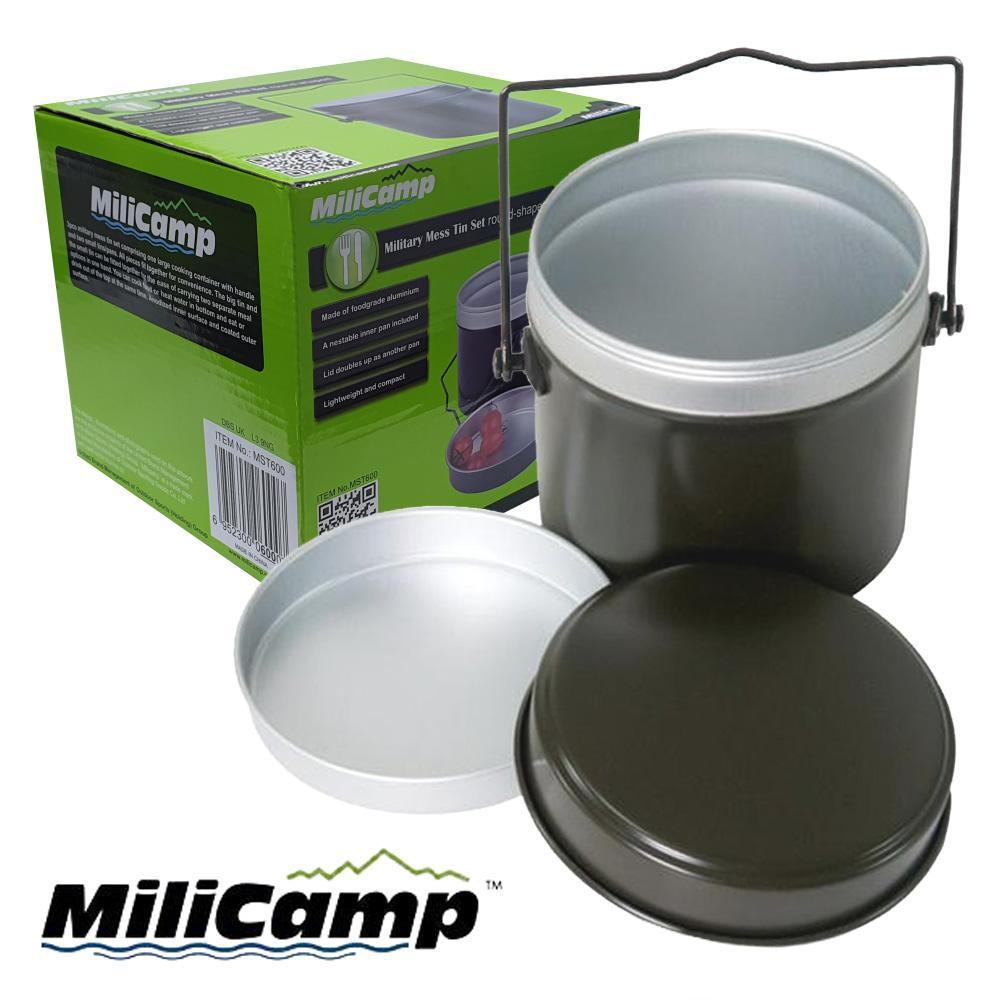 밀리캠프 밀리터리 원형 군용반합 600 캠핑식기 코펠세트 캠핑용품 글렘핑 야영