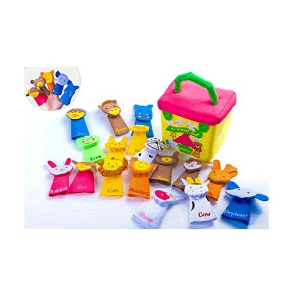 손가락 동물인형극장(17종와 노란가방) 완구 문구 장난감 어린이 캐릭터 학습 교구 교보재 인형 선물