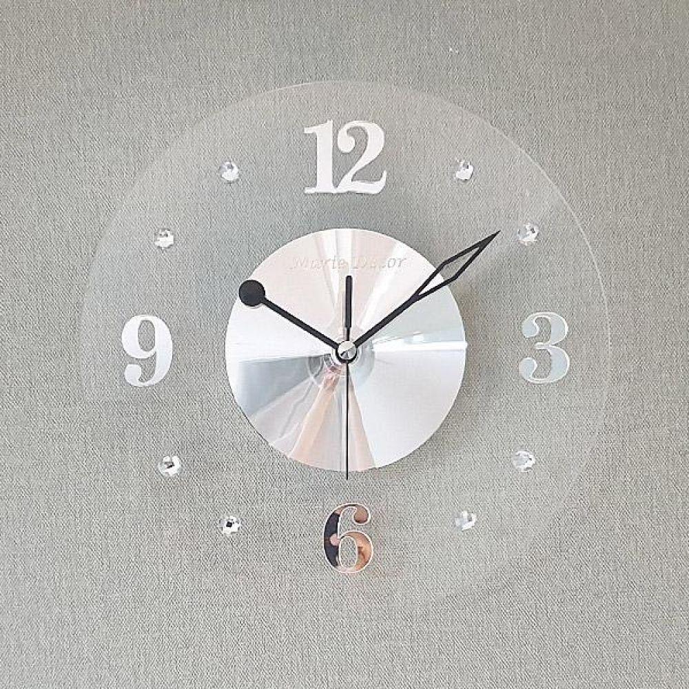 투명 무소음 벽시계 (실버) 벽시계 벽걸이시계 인테리어벽시계 예쁜벽시계 인테리어소품