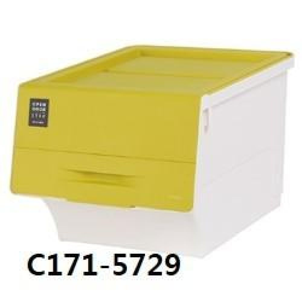 창신 오픈도어스텝박스라임(중) C171-5729 생활용품 수납용품 수납 청소 박스