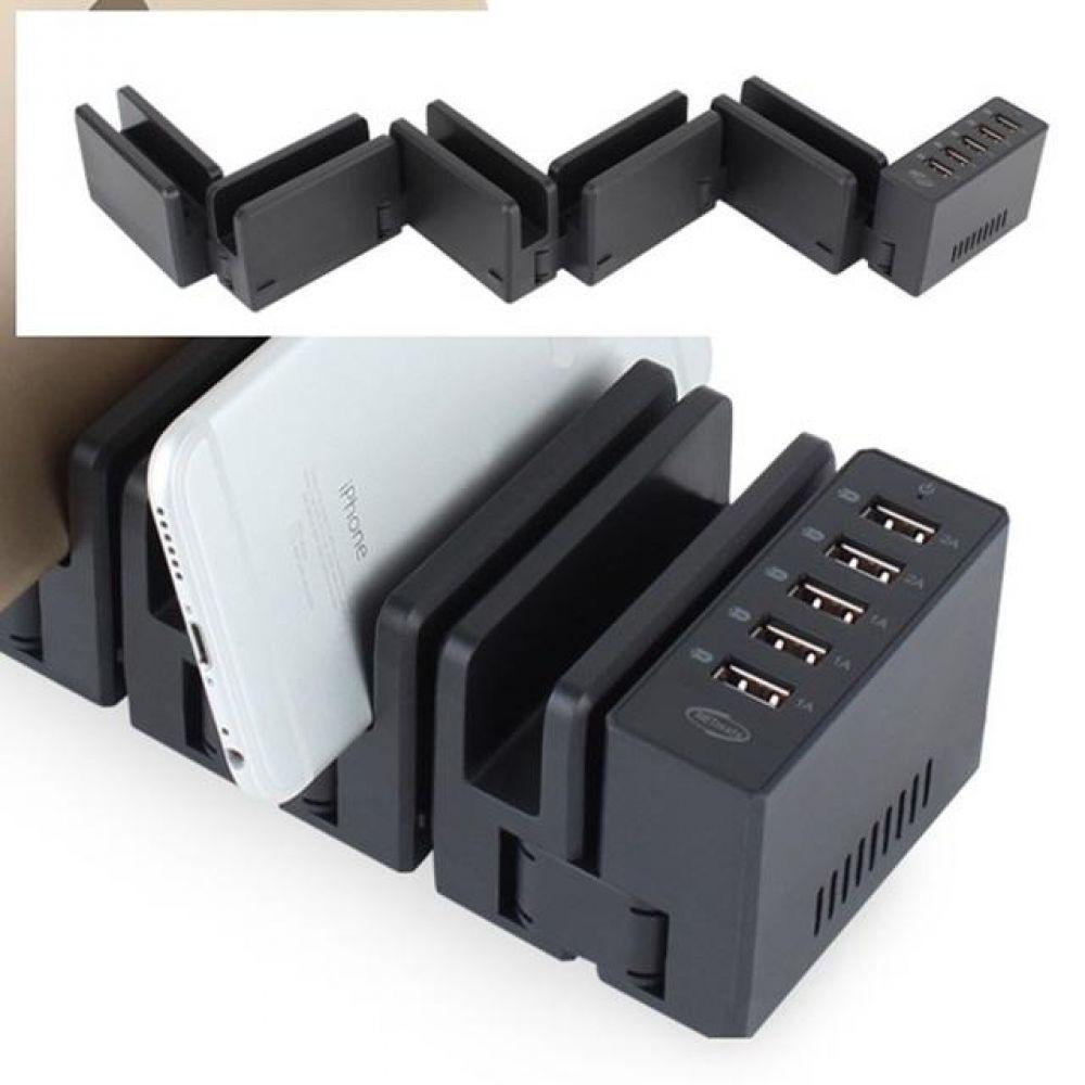 USB 5포트 동시 충전 거치대 컴퓨터용품 PC용품 컴퓨터악세사리 컴퓨터주변용품 네트워크용품 핸드폰고속충전기 스마트폰충전케이블 멀티충전기 멀티고속충전기 고속충전케이블 c타입충전케이블 듀얼충전기 스마트폰급속충전기 충전기케이블 5핀케이블