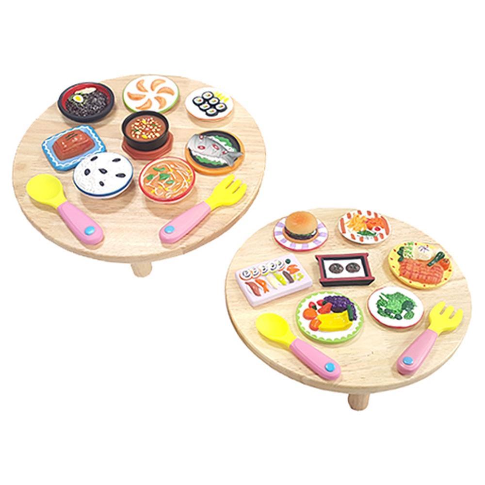 선물 소프트 음식 세트A 미니어쳐 모형 어린이날 완구 어린이집 유아원 초등학교 장난감