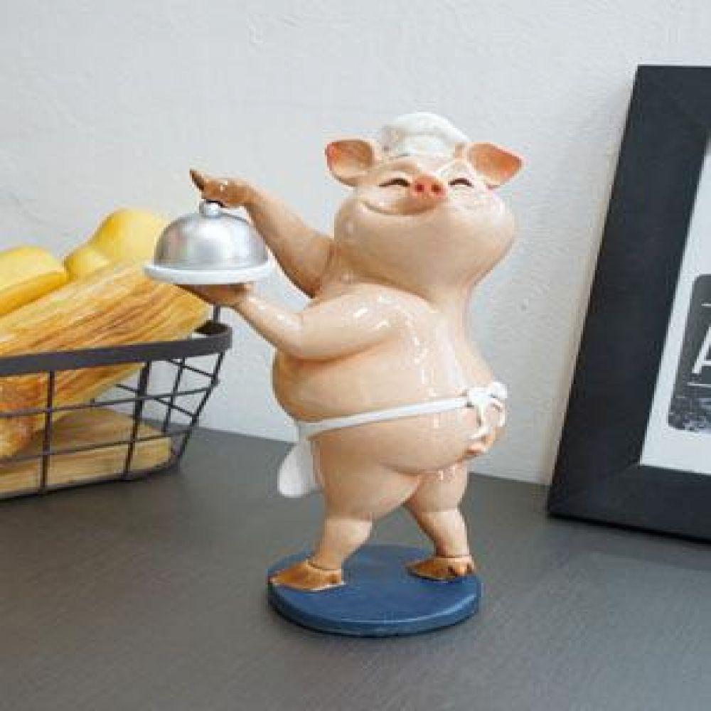 요리 핑크 돼지 인테리어소품 장식소품 장식인형 도자기소품 돼지소품