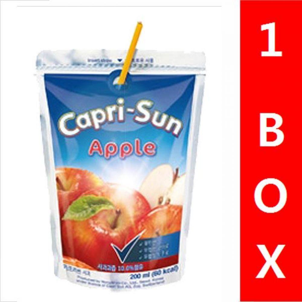 농심)카프리썬(사과) 1박스(10개) 음료 여름 탄산 과일 비타민 대량 세일 판매 카프리썬 사과맛