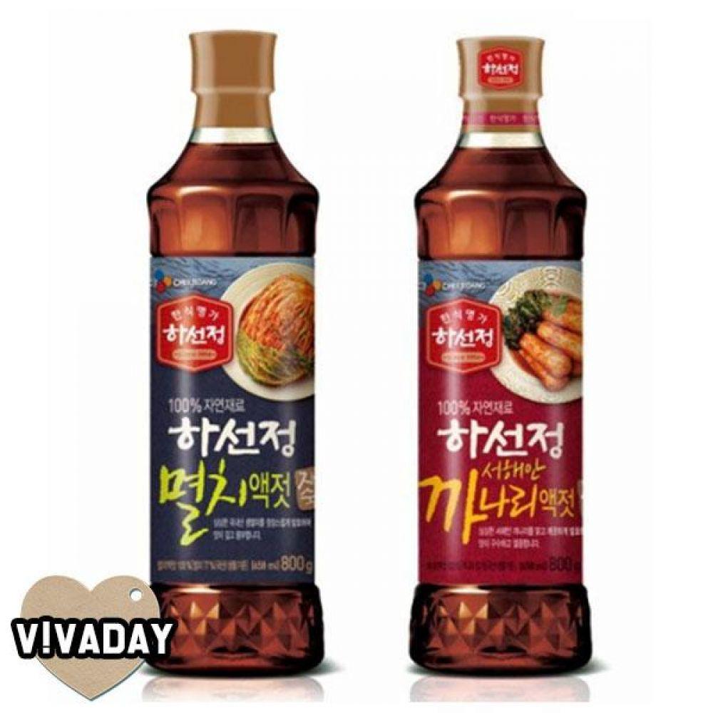 MY 하선정 까나리액젓 멸치액젓 800g 요리 조리 요리재료 액젓 까나리액젓 멸치액젓 하선정