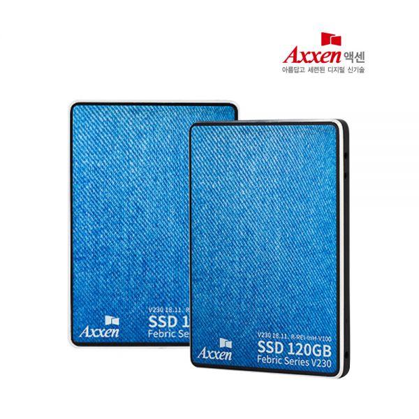 엑센 문구인쇄가능/액센 V230 SSD 120GB 3D낸드 SATA3 AXXEN SSD SSD외장하드 SSD1T 노트북SSD