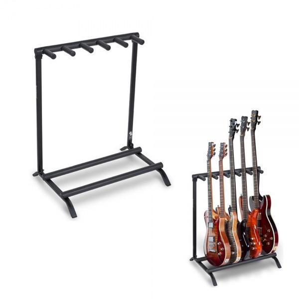 멀티 기타스탠드 5단 Electric/ Bass용 거치대 20881 기타거치대 기타받침대 기타걸이 통기타받침대 통기타거치대 일렉스탠드 통기타스탠드 기타용거치대 베이스스탠드 일렉기타거치대