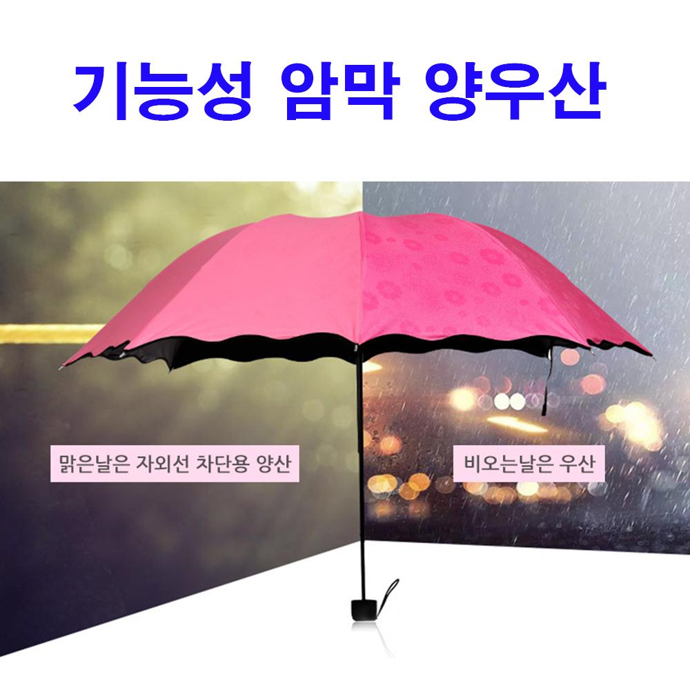 기능성 5중 암막 특수코팅 플라워 양우산 미니양산 미니우산 5단양산겸우산 우산 양산