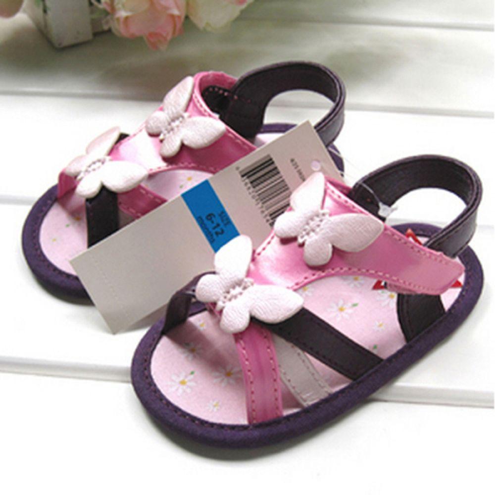 보라 나비 샌들 보행기화 (115-131mm) 202018 아기신발 삑삑이 보행기신발 유아신발 여아신발