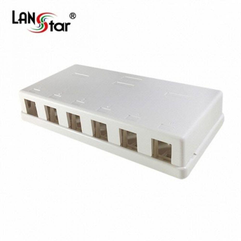 40063 LANstar 아울렛 공박스 노출형 6구 컴퓨터용품 PC용품 컴퓨터악세사리 컴퓨터주변용품 네트워크용품 무선공유기 iptime 와이파이공유기 iptime공유기 유선공유기 인터넷공유기