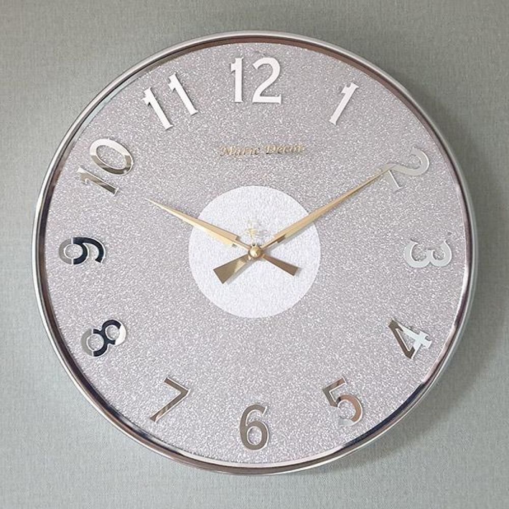 미러넘버 무소음 벽시계 (실버) 벽시계 벽걸이시계 인테리어벽시계 예쁜벽시계 인테리어소품