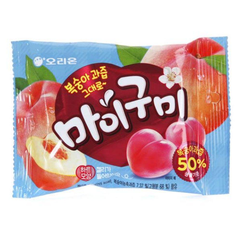 오리온)마이구미 복숭아 66g x 20개 과자 사탕 젤리 껌 도매