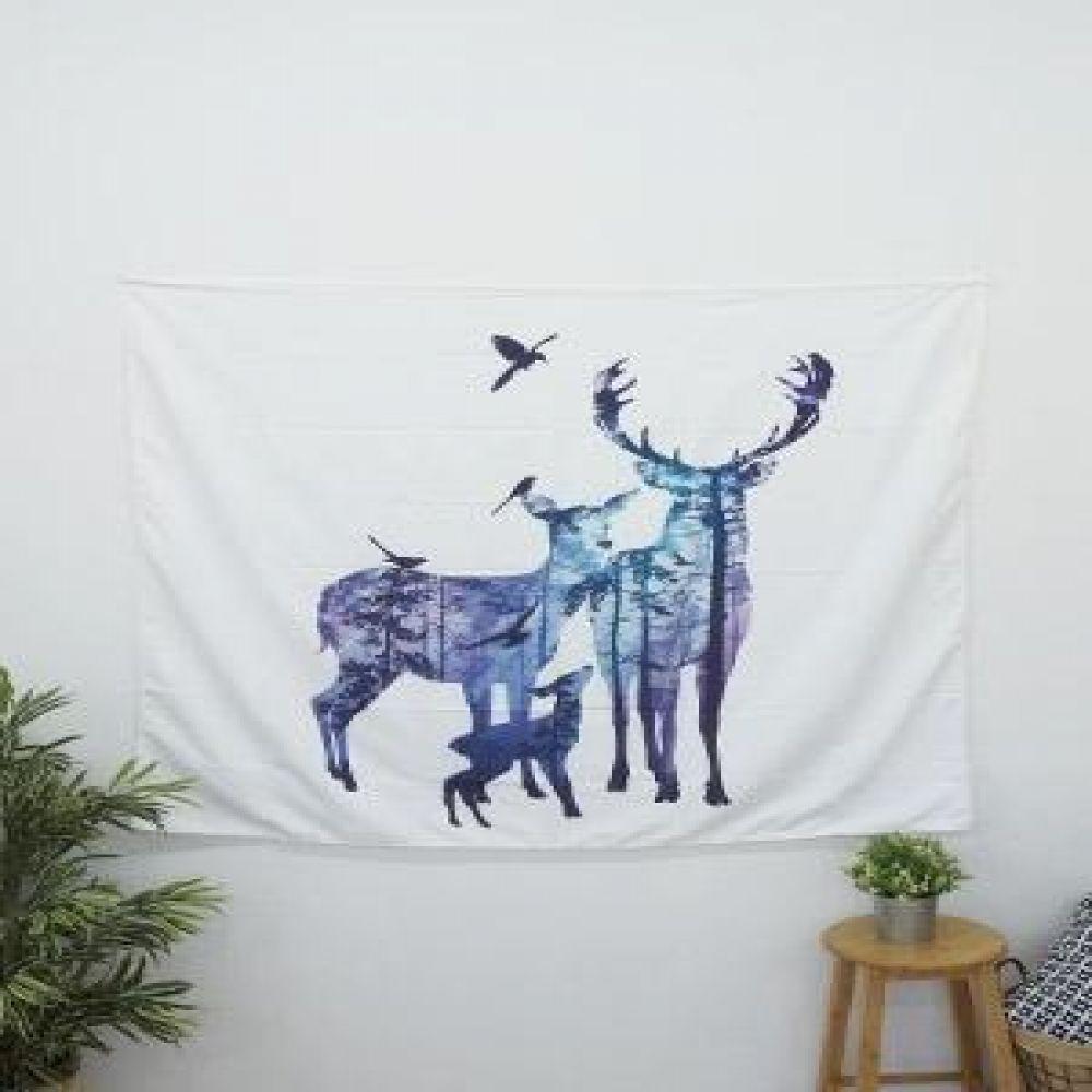 태피스트리 (사슴) 벽장식소품 천포스터 벽걸이소품 가리개 인테리어소품