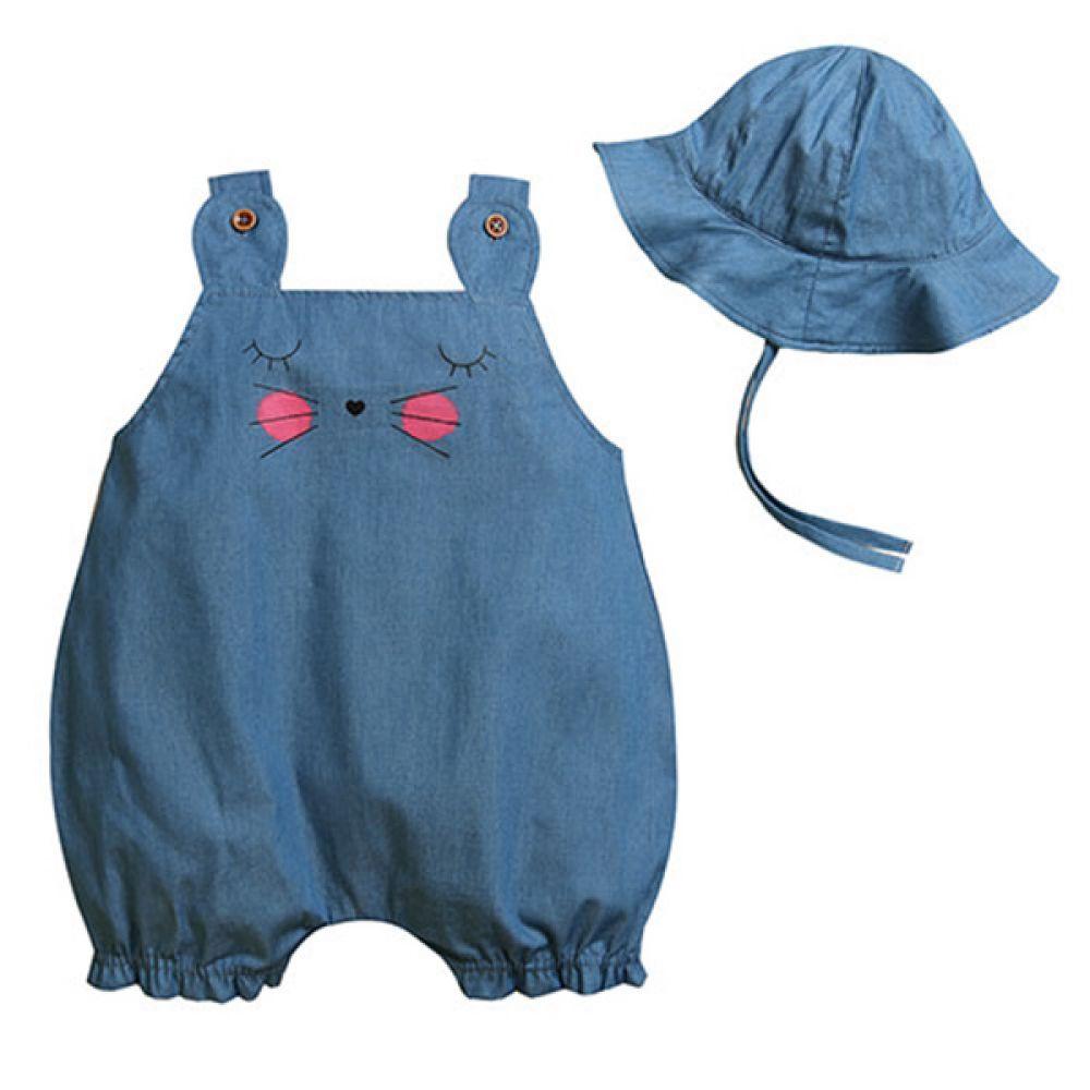 볼빨간 고양이 롬퍼 모자세트(0-18개월) 203560 아기롬퍼 유아롬퍼 롬퍼세트 아기룸퍼 유아룸퍼 룸퍼세트 모자 아기모자 유아모자 아기롬퍼세트