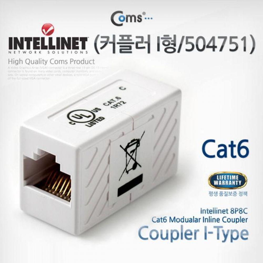 Intellinet 커플러 I형 504751 Cat6 8P8C White 컴퓨터용품 PC용품 컴퓨터악세사리 컴퓨터주변용품 네트워크용품 무선공유기 iptime 와이파이공유기 iptime공유기 유선공유기 인터넷공유기