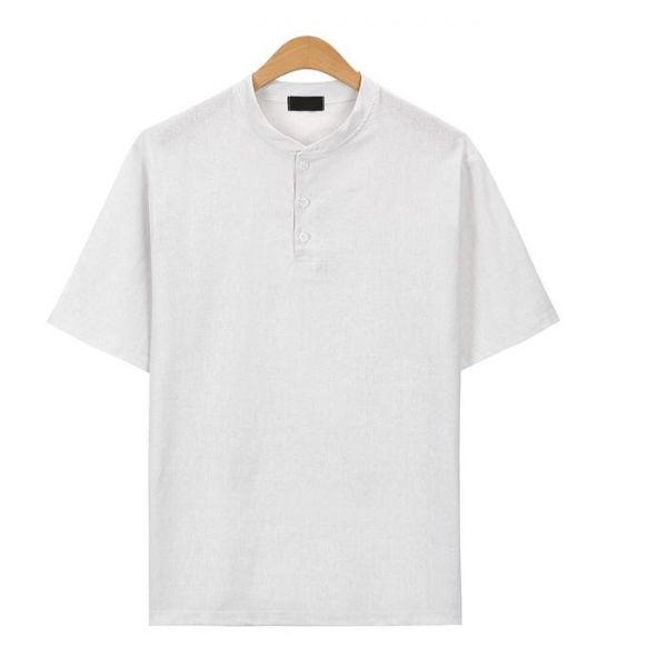 베이지 헨리넥 린넨 티셔츠_CMT015 헨리넥반팔티 남자반팔티 반팔티 무지반팔티 티셔츠 반팔티셔츠 남자티셔츠 남자오버핏반팔