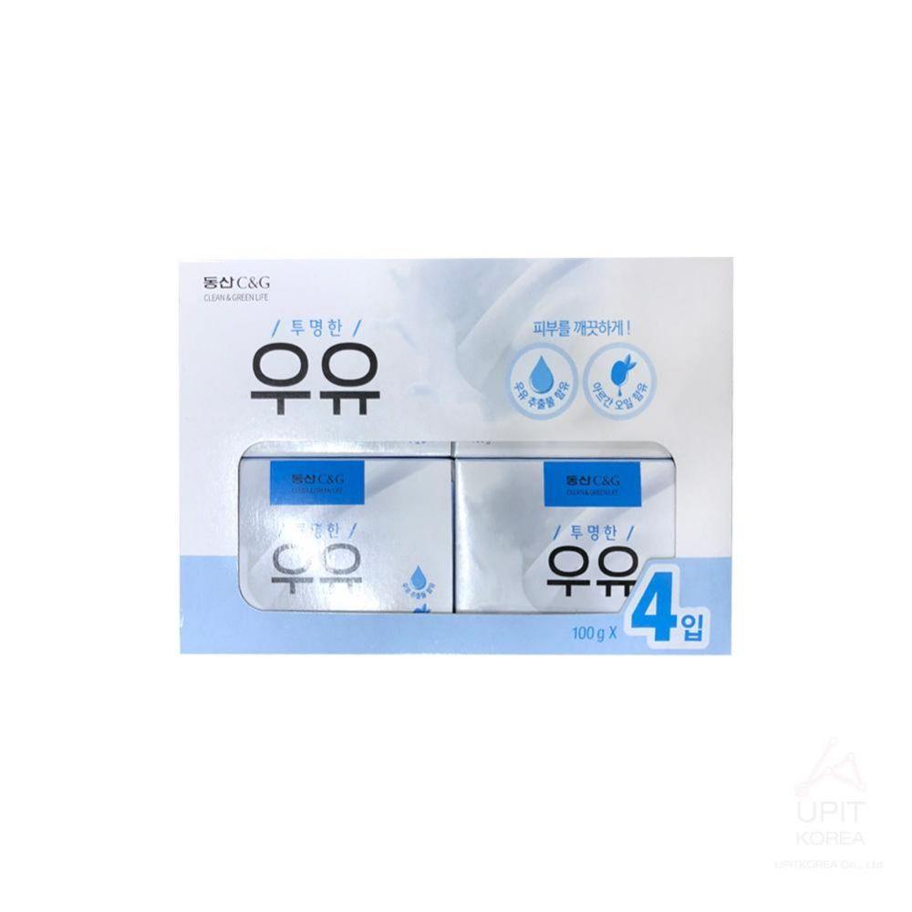 투명한 우유 비누 100g x 4개입_7730 생활용품 가정잡화 집안용품 생활잡화 잡화
