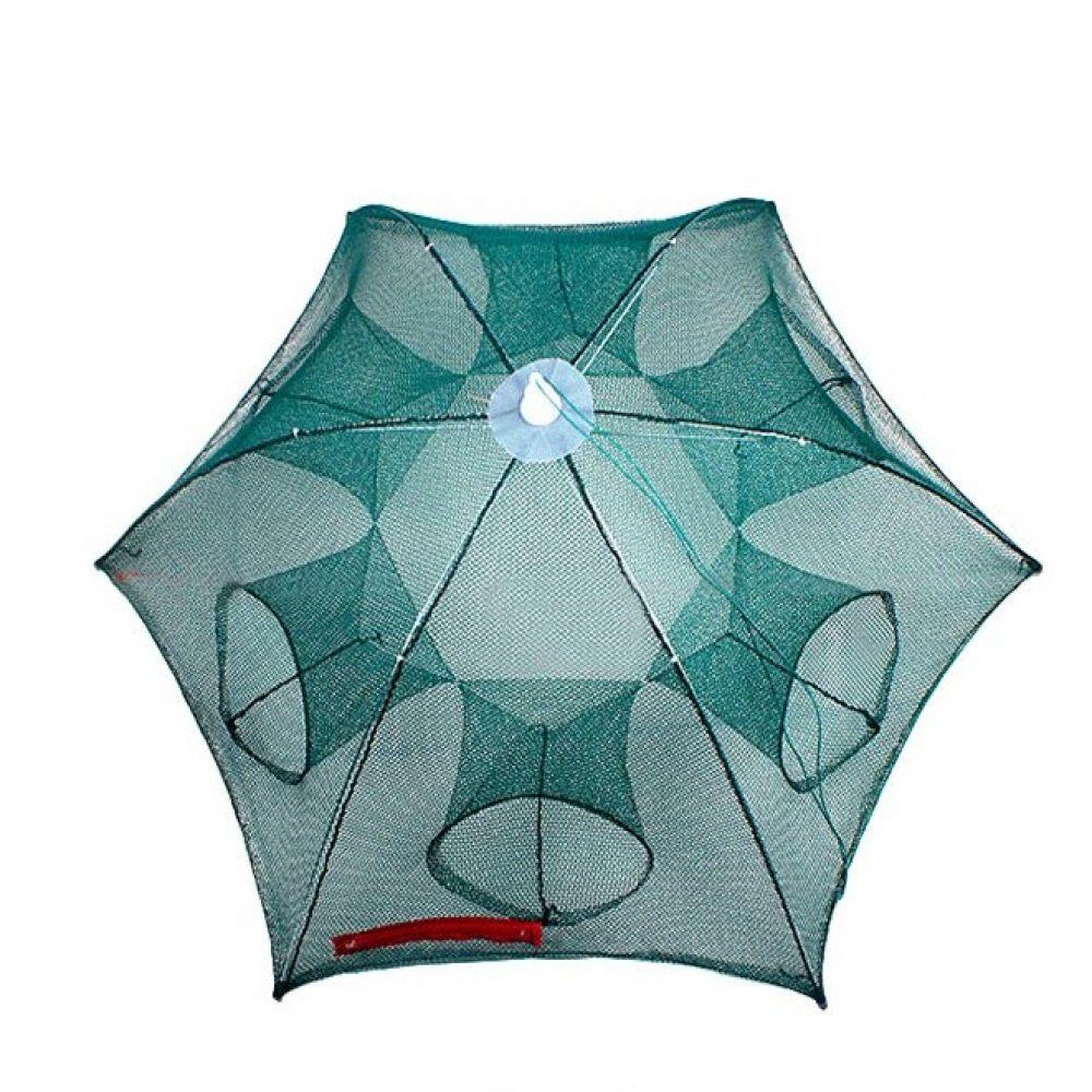 원터치 6구통발 우산형 원터치 통발 낚시 물고기망 낚시용품 낚시어망 그물망 사각통발 물고기망