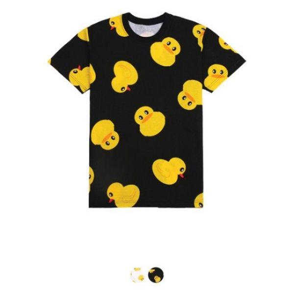 오리 라운드 티셔츠 30수 라운드 반팔 티셔츠 반팔티 패턴