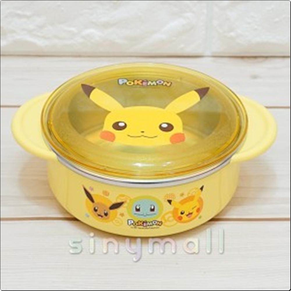 포켓몬스터 안전핸들논슬립뚜껑스텐대접 350ml 캐릭터 캐릭터상품 생활잡화 잡화 유아용품