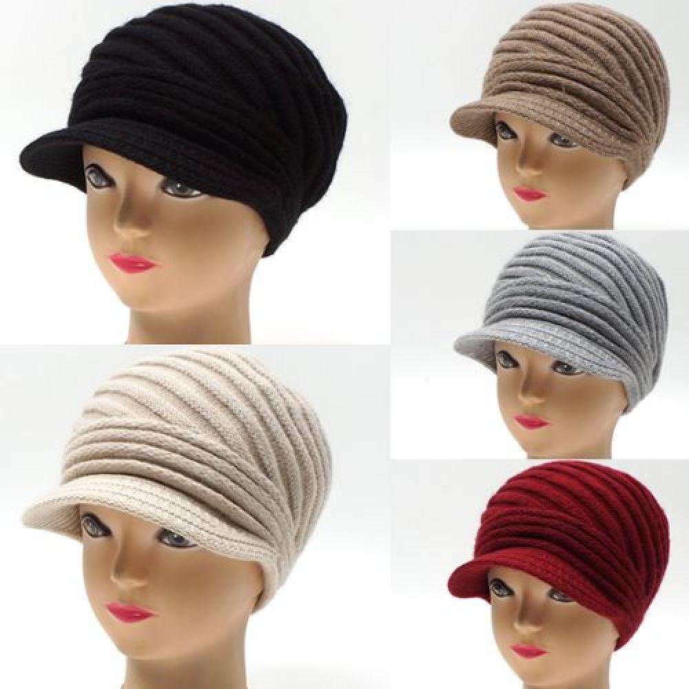 D1378-언발주름꽈배기 니트 짜임 챙 모자 비니모자 야구모자 챙모자 여성모자 면모자